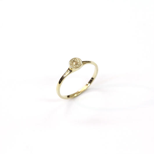 CAV-R02-SV(YG) Carve Diamond Ring R02