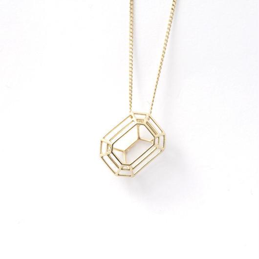 LIJ-N02-S Line Emerald Pendant N02S
