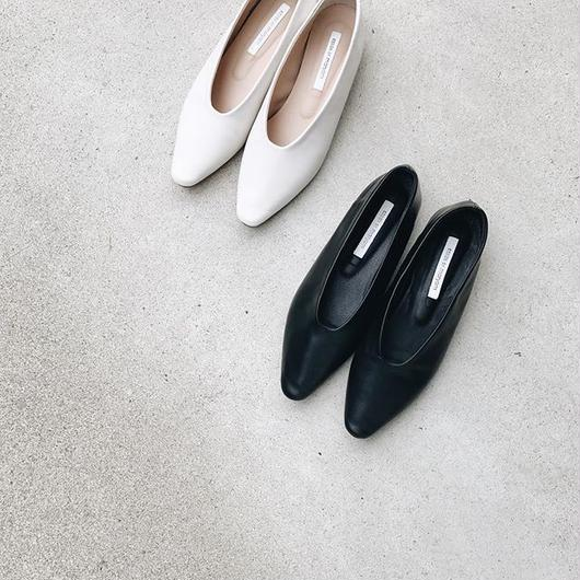 pointed flat shoes (2color)