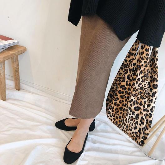 knit rib skirt (2color)