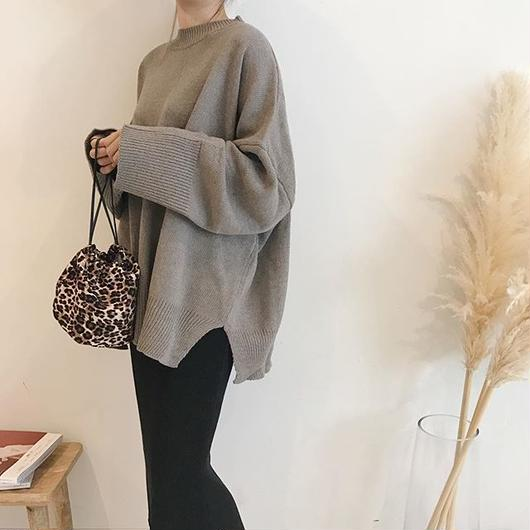 oversize  slit knit (2color)
