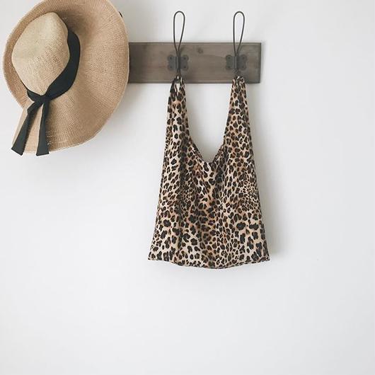 Leopard marche bag