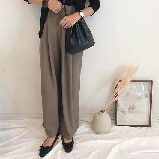 high waist wide pants (2color)