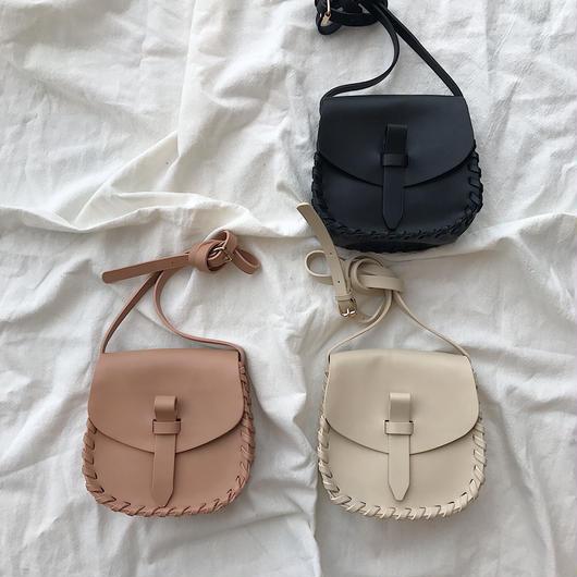 stitch shoulder bag(3color)