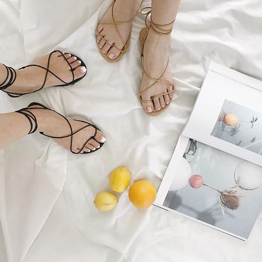 laceup sandals (2color)