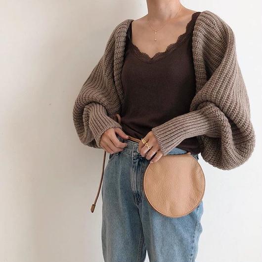 back ribbon knit bolero (2color)