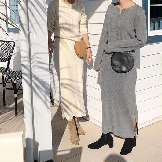 henry knit onepiece (2color)