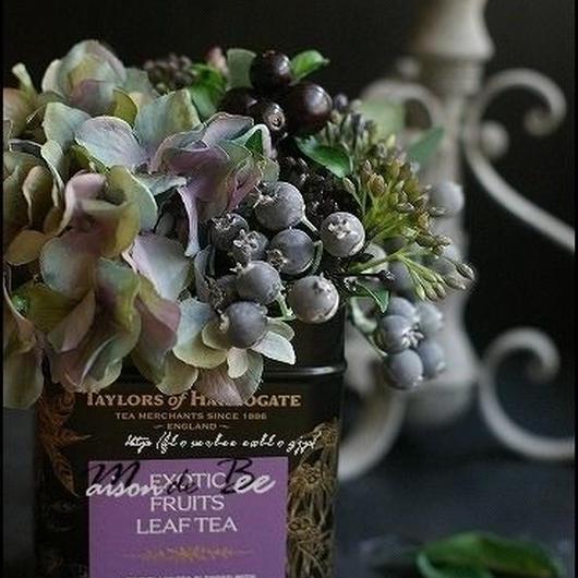 紅茶缶アレンジメント