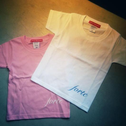 forte Kids T-shirts (White / Pink)