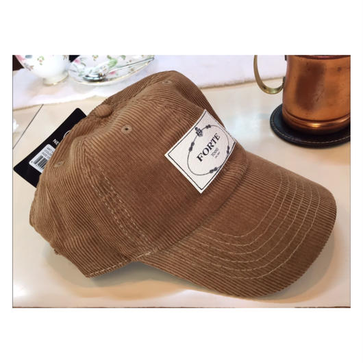 "forte ""LEATHER PATCH""Corduroy CAP-限定Price(数量限定)"