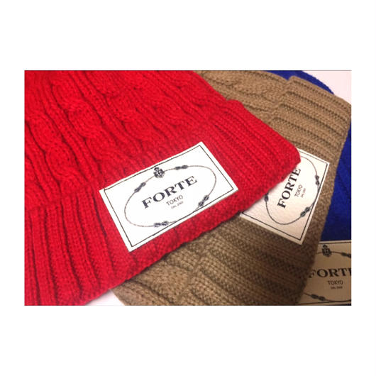"forte""LEATHER PATCH""KNIT CAP-限定Price(数量限定)"