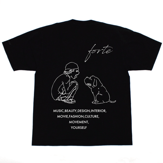 "【受注生産】forte ""MAKE""T-shirts (Pure Black)【4/13~4/29】"