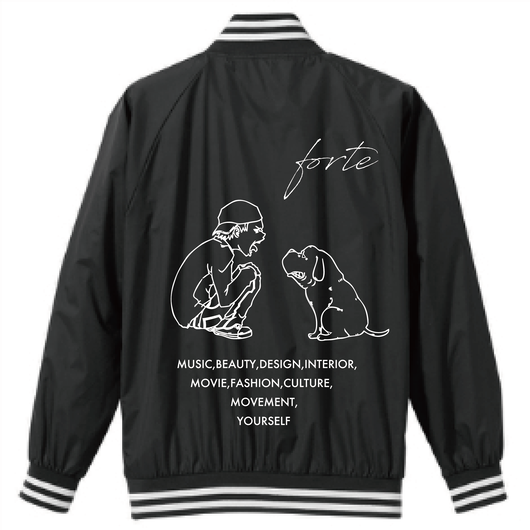 "【受注生産】forte ""MAKE"" Stadium Jacket (Black)【4/13~4/29】*TROOP  RECORDS限定カラー有り"