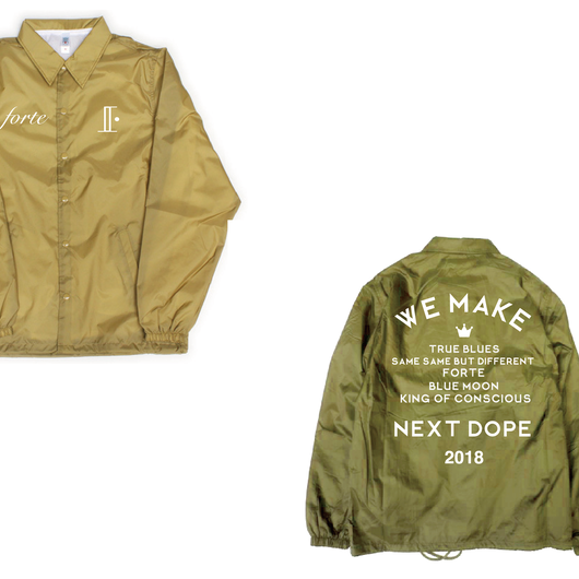 forte,iSOLATED ARTS W-NAME STAFF COACH JACKET(KHAKI)-forteオンラインSHOP限定