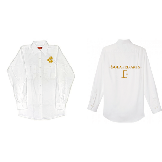 【受注生産商品】iSOLATED ARTS White Work Shirts(2nd Collection)【〆切7月8日】