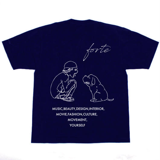 "【受注生産】forte ""MAKE"" T-shirts (Navy)【4/13~4/29】"