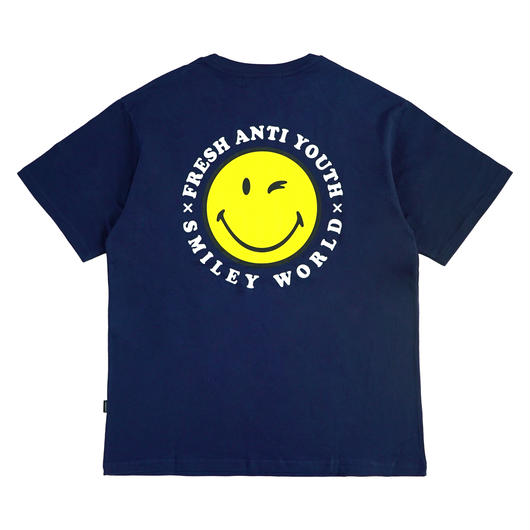 ANTI SMILE T-SHIRTS-NAVY