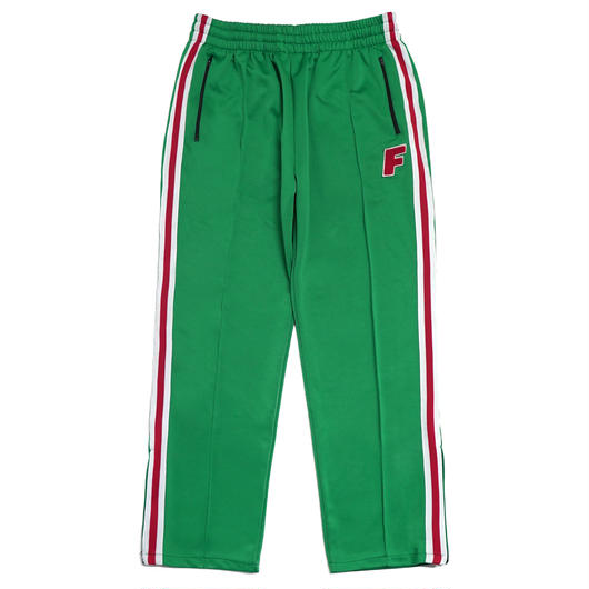 LOGO ZIP TRACK PANTS-GREEN