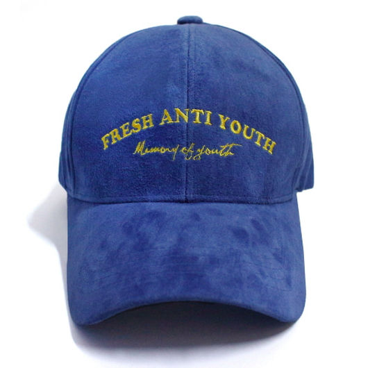 M.O.Y Suede Leather Ball Cap – Navy