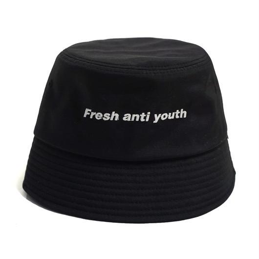 LOGO BUCKET HAT -BLACK