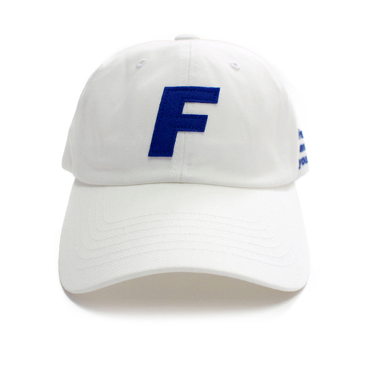 Fray Logo Ball Cap – White