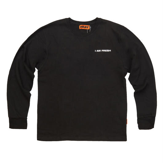 I AM FRESH LONG SLEEVE BLACK