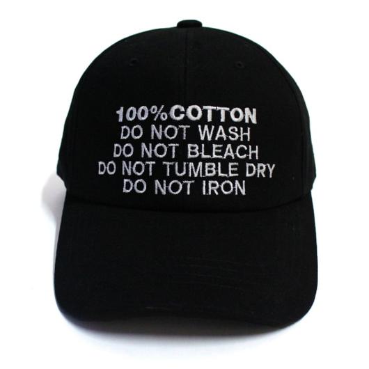 100% Ball Cap – Black