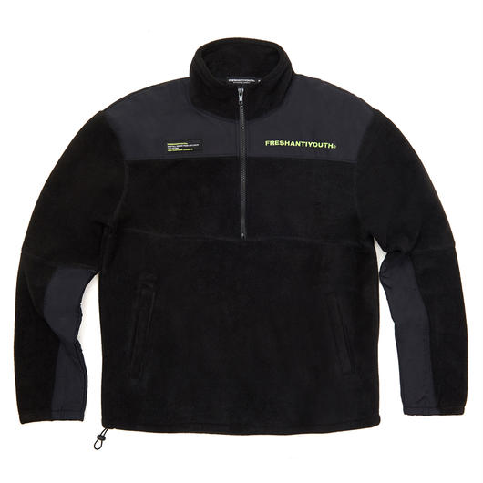 CUT FLEECE JACKET BLACK