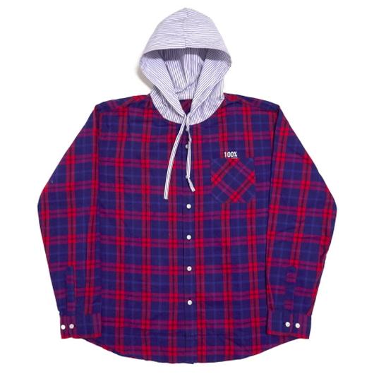 Flannel Hood-Shirts – Blue