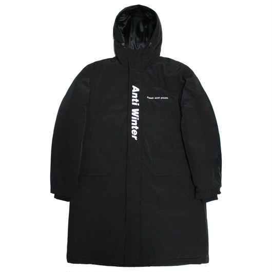 ANTI WINTER LONG PADDING JACKET-BLACK