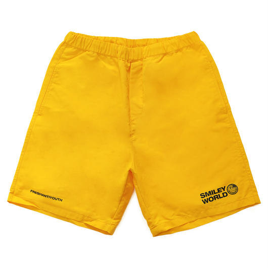 SMILEY WORDL RELAX SHORT PANTS-YELLOW