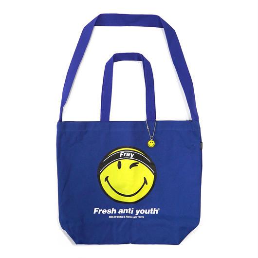 FRAY LOGO SMILE SHOLDER BAG-BLUE