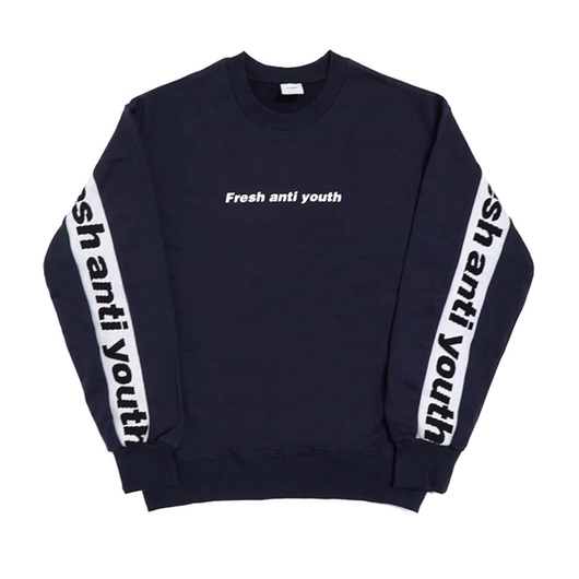 Band-Crewneck Sweater – Navy