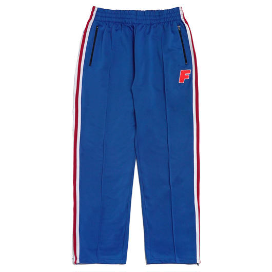 LOGO ZIP TRACK PANTS-BLUE