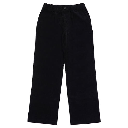CORDUROY WIDE PANTS-BLACK