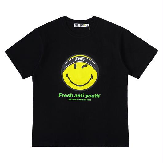 FRAY LOGO SMILE T-SHIRTS-BLACK