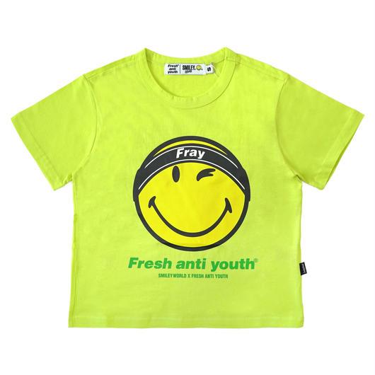 FRAY LOGO SMILE T-SHIRTS (FOR WOMEN)-NEON