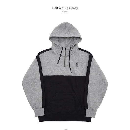 Half zip-up Hoody-GRAY