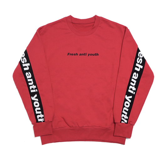 Band-Crewneck Sweater – Red