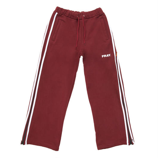 SIDE ZIPUP WIDE PANTS BURGUNDY