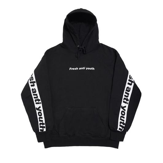 Band Hood Sweater – Black/White