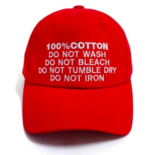 100% Ball Cap – Red