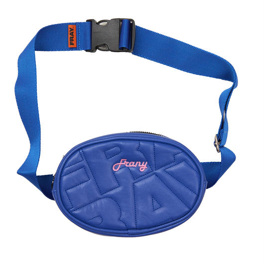 FRAY LEATHER WAIST BAG BLUE