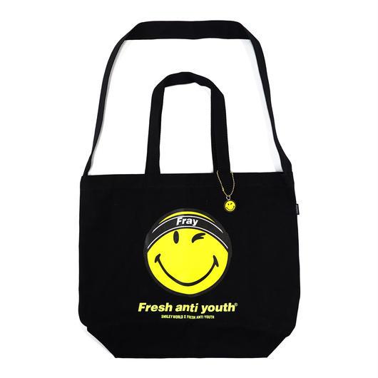 FRAY LOGO SMILE SHOLDER BAG-BLACK