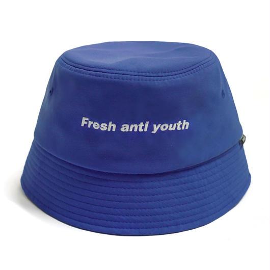 LOGO BUCKET HAT -BLUE