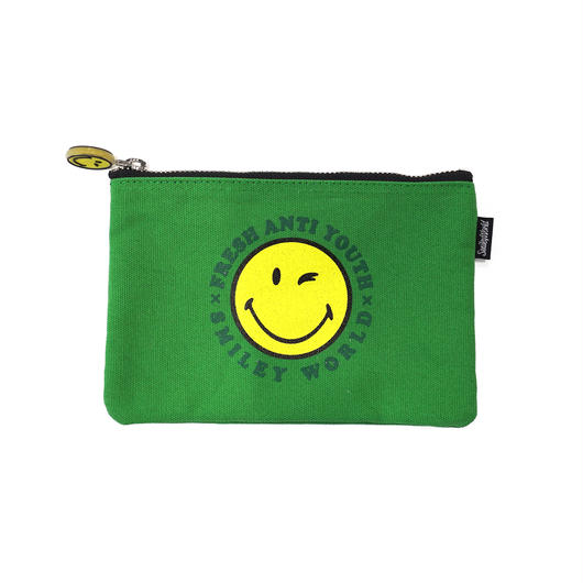 SMILEY LOGO POUCH BAG (小)-GREEN