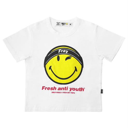 FRAY LOGO SMILE T-SHIRTS (FOR WOMEN)-WHITE