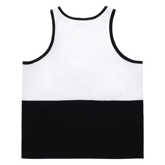 Half tank top-BLACK