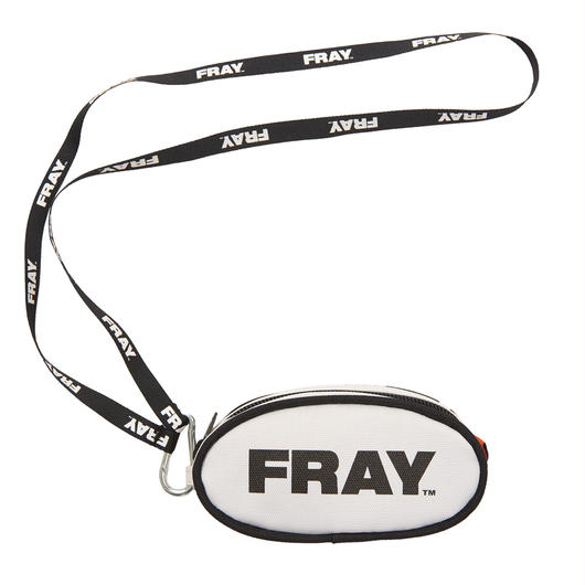 FRAY COIN POUCH WHITE