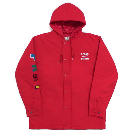 ANTIWINTER FRAY PARKA-RED